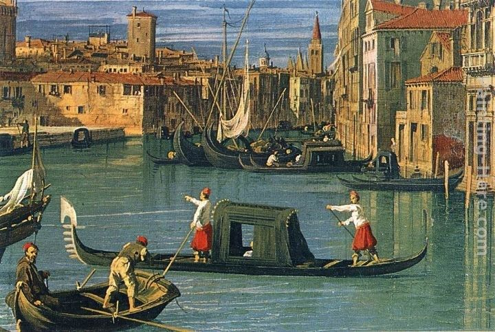 Canaletto The Grand Canal at the Salute Church [detail]